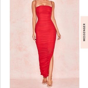 House of CB red dress